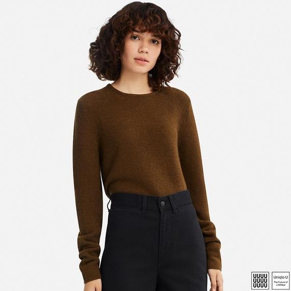 ユニクロU ウールクルーネックセーター(長袖)