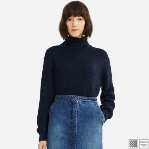 ユニクロU メランジタートルネックセーター(長袖)
