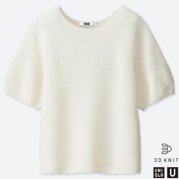 3Dバルーンスリーブセーター(5分袖)