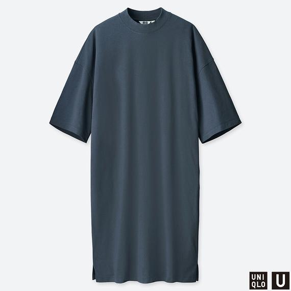 オーバーサイズTワンピース(5分袖)